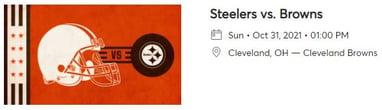 Browns vs Steelers Image